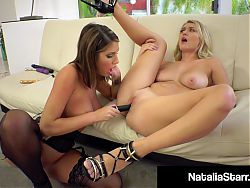 Tongue Fuckers Natalia Starr & August Ames Get That Orgasm!