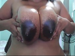 big ebony lactating moms