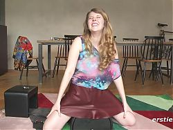 Five Amazing Amateur Lesbians Take Turns Riding the Sybian