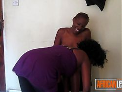 Beautiful Ebony Lesbian Seduces Friend