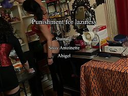 Sissy Antoinette and Slave Abigel are punished by Mistress