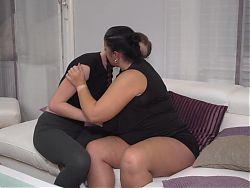 BIG mature mother Abby fucks small lesbian girl Leona