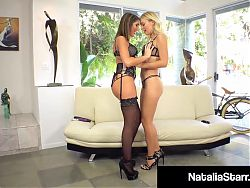 Fuck Friends Natalia Starr & August Ames Tongue Fuck & Cum!